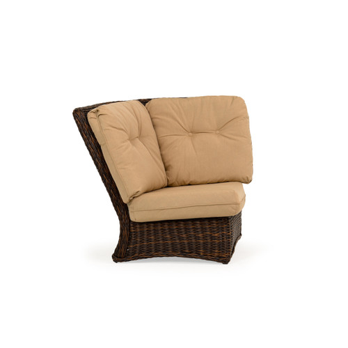 Maldives Outdoor Wicker 90 Degree Wedge Chair in Clove