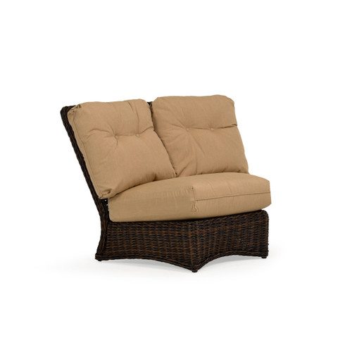 Maldives Outdoor Wicker 45 Degree Wedge Chair in Clove