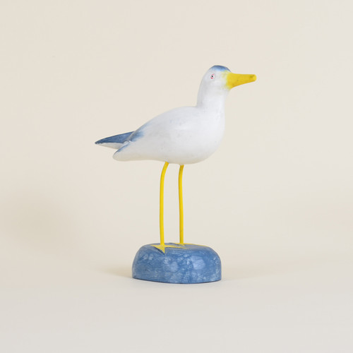 Indoor Standing Blue & White Seagull