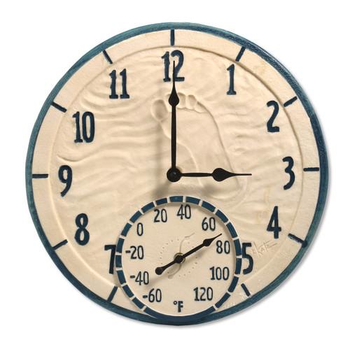 Outdoor  or Indoor Clock and Therometer