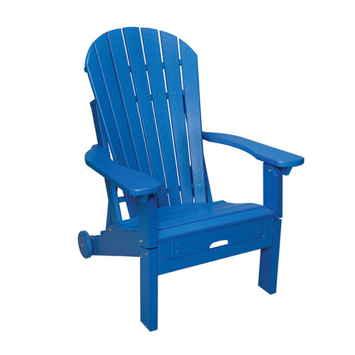 Oceanside Outdoor Poly Lumber Reclining Adirondack with Pull Out Ottoman