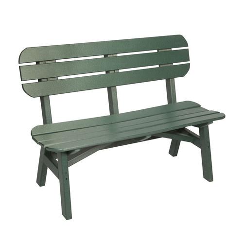 "Oceanside Outdoor 48"" Poly Lumber Bench"