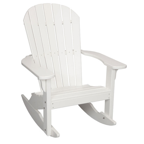 Oceanside Outdoor Poly Lumber Adirondack Rocker