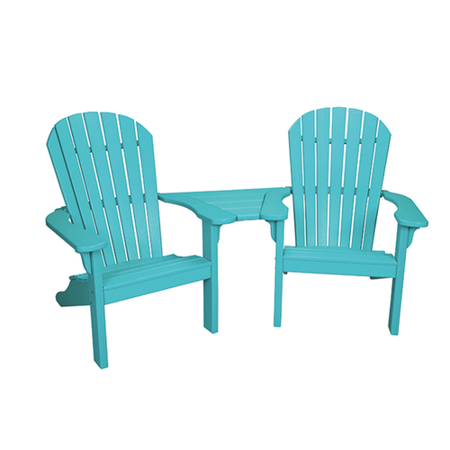 Oceanside Outdoor Poly Lumber Settee with Slide in Table