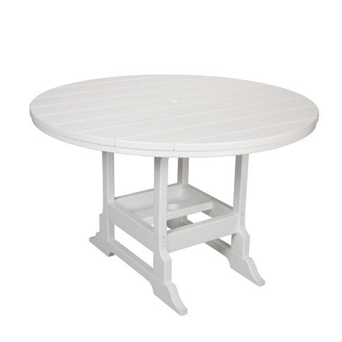 "Oceanside Outdoor 48"" Round Poly Lumber Dining Table"