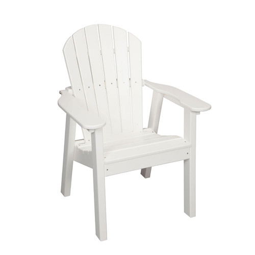 Poly Lumber Patio Stationary Dining Chair in White