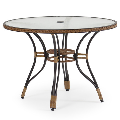 "Empire Outdoor Wicker 40"" Round Dining Table"