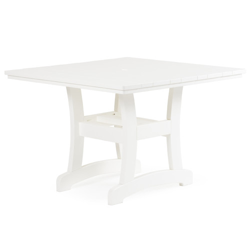 "Bayshore Outdoor 42"" Square Poly Lumber Dining Table"