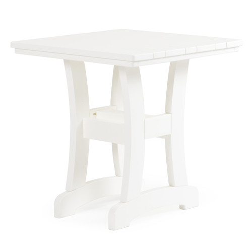 "Bayshore Outdoor 28"" Square Poly Lumber Bistro Dining Table"