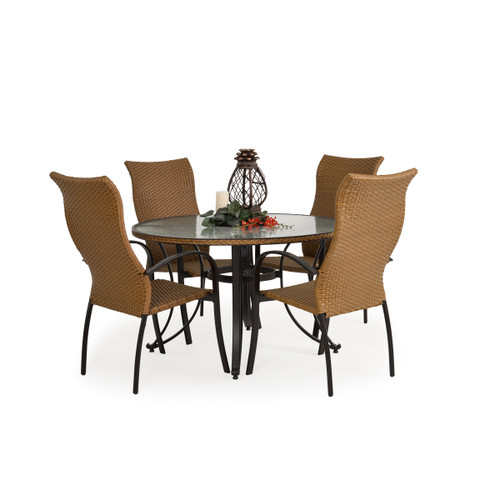 Empire Outdoor Wicker 5 Piece Dining Set