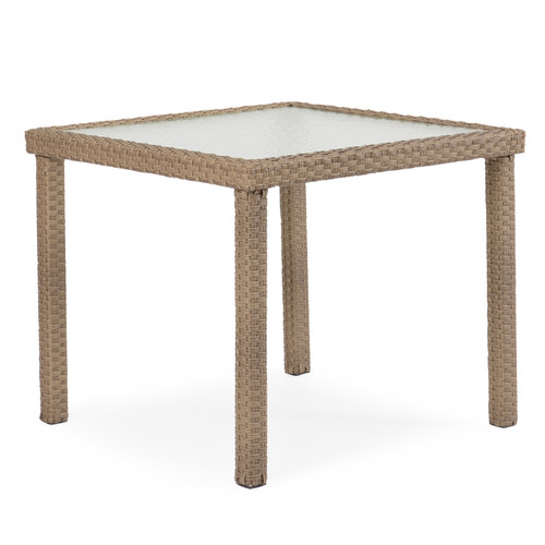 "Kokomo Outdoor 34"" Square Dining Table (Oyster Grey)"