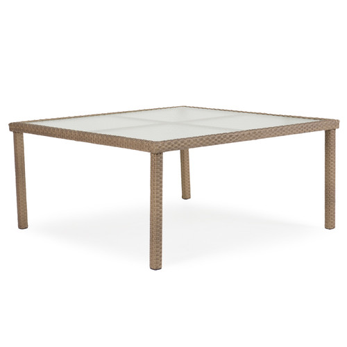 "Kokomo 62"" Square Dining Patio Table (Oyster Grey)"