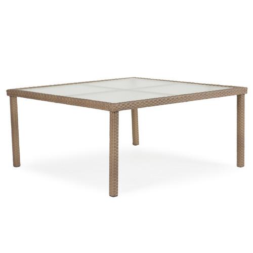 """Kokomo 62"""" Square Dining Patio Table (Oyster Grey)"""