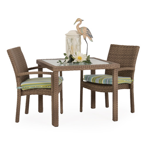 Kokomo Outdoor Stackable 3 Piece Dining Set (Oyster Grey)