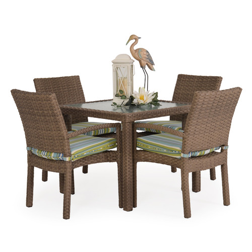 Kokomo Outdoor Stackable 5 Piece Dining Set (Oyster Grey)