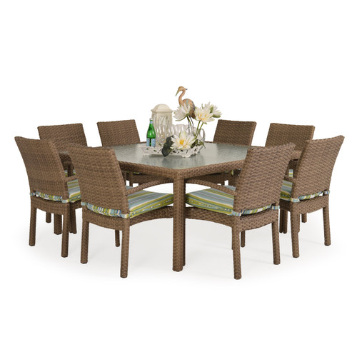 Kokomo 9pc Stackable Patio Dining Set (Oyster Grey)