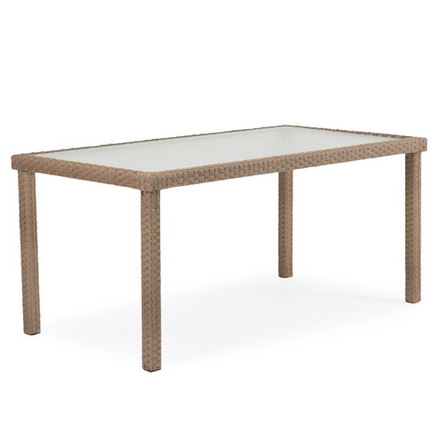 "Kokomo Patio Wicker 34"" x 62"" Rectangular Dining Table"
