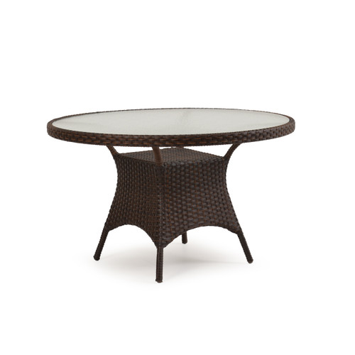 "Kokomo Outdoor Wicker 48"" Round Dining Table in Tortoise Shell"