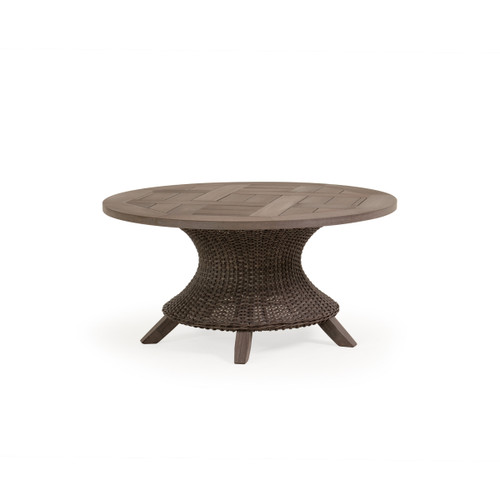 Sanibel Conversation Table in Peppercorn with Vintage Walnut PoliSoul™ Table Top