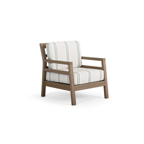 Maui Outdoor PoliSoul™ Club Chair in Weathered Teak