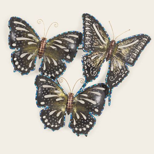 Indoor Triple Butterfly with Blue Mosaics