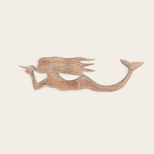Indoor Carved Wood Mermaid