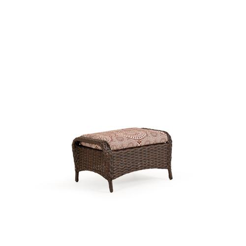 Kokomo Outdoor Wicker Ottoman with Cushion (Tortoise Shell)