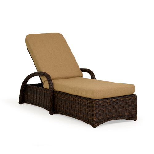 Maldives Outdoor Wicker Chaise Lounge in Clove