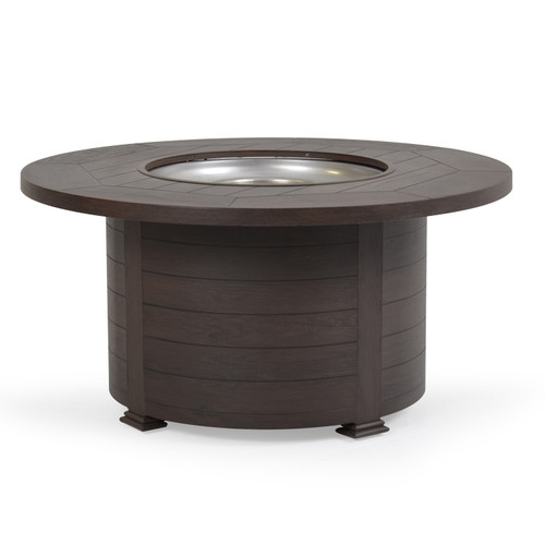 "Maldives Outdoor 48"" Round Fire Pit (Black Walnut)"