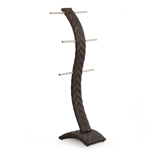 Kokomo Outdoor Wicker Towel Tree (Tortoise Shell)