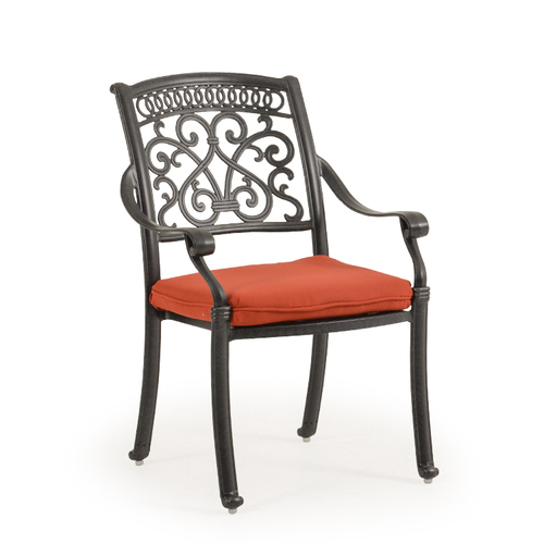 Charleston Cast Aluminum Dining Arm Chair