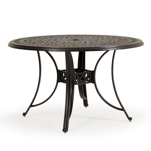 "Charleston Outdoor Cast Aluminum 48"" Round Dining Table"