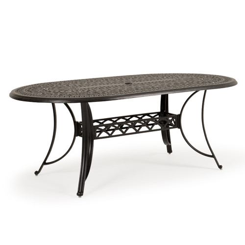 "Charleston Outdoor Cast Aluminum 42"" X 76"" Oval Dining Table"