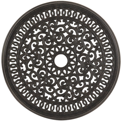 "Charleston Outdoor Cast Aluminum 20"" Round Lazy Susan"