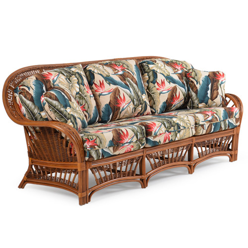 Bali Indoor Rattan Sofa with Cushions