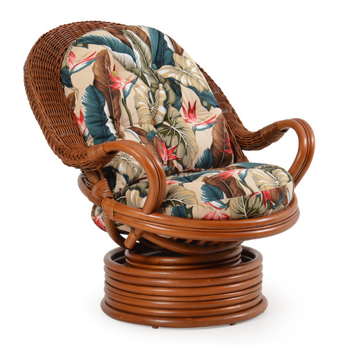 Bali Indoor Rattan Swivel Rocker