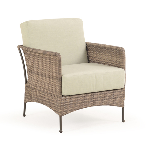 Garden Terrace Outdoor Wicker Club Chair with Cushion
