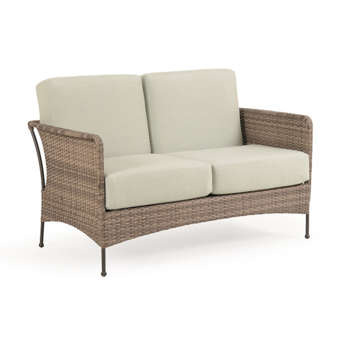 Garden Terrace Outdoor Wicker Loveseat with Cushions