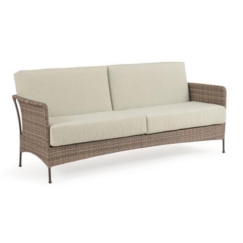 Garden Terrace Outdoor Wicker Sofa with Cushions