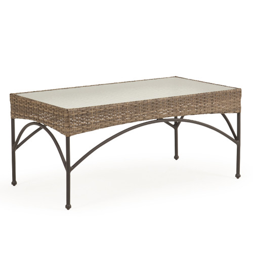 Garden Terrace Outdoor Rectangle Wicker Cocktail Table