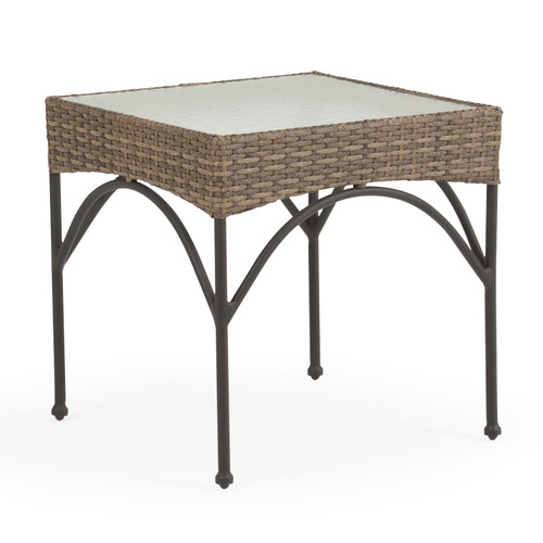 Garden Terrace Outdoor Wicker Square End Table