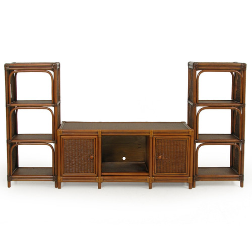 Bali Rattan Plasma 3 Piece Entertainment Center