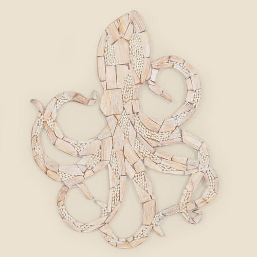 Indoor Wooden Octopus Wall Hanging
