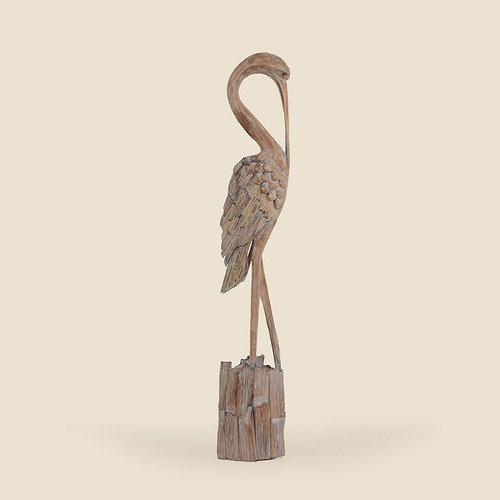 Indoor Driftwood Bird With Curved Neck