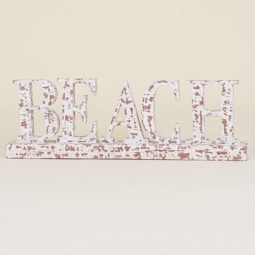 Indoor Distressed Beach Sign