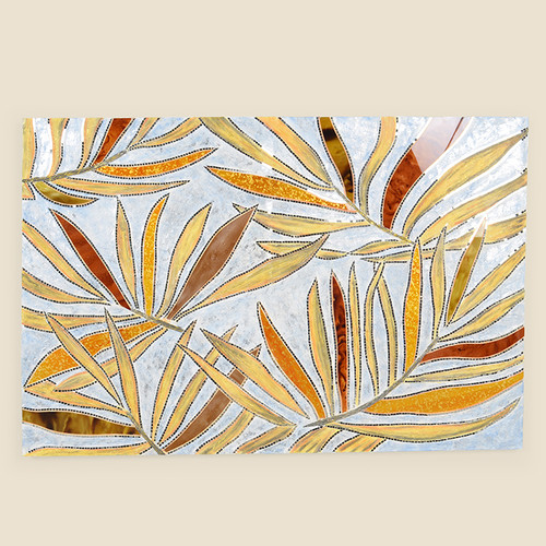 Indoor Mosaic Palm Frond Pattern
