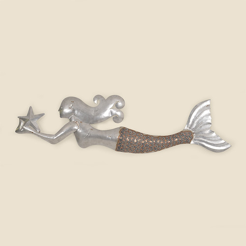 Outdoor Heat Treated Stainless Steel Mermaid