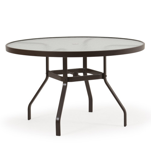 "Outer Banks 47"" Round Glass Top Dining Table"