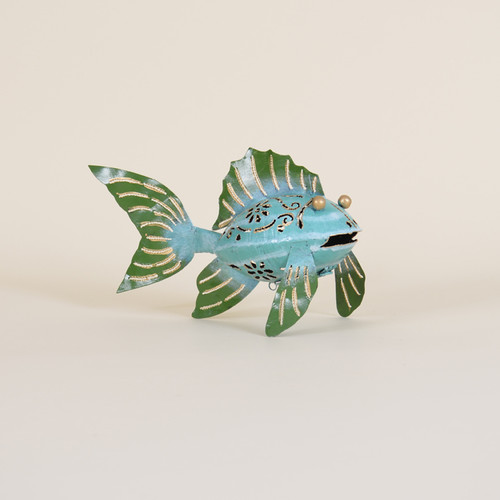Indoor Iron Blue & Green Fish