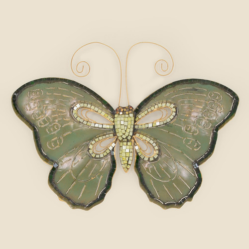 Indoor Metal Butterfly with Mosaic Accents